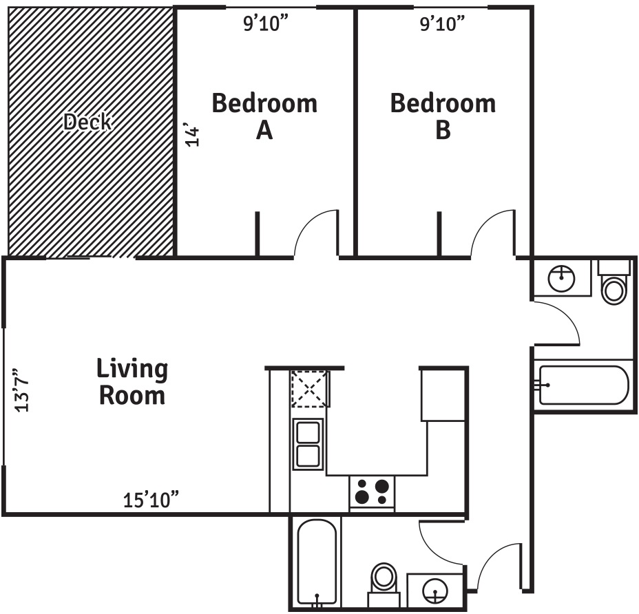 ph Apartments 2 bedroom layout