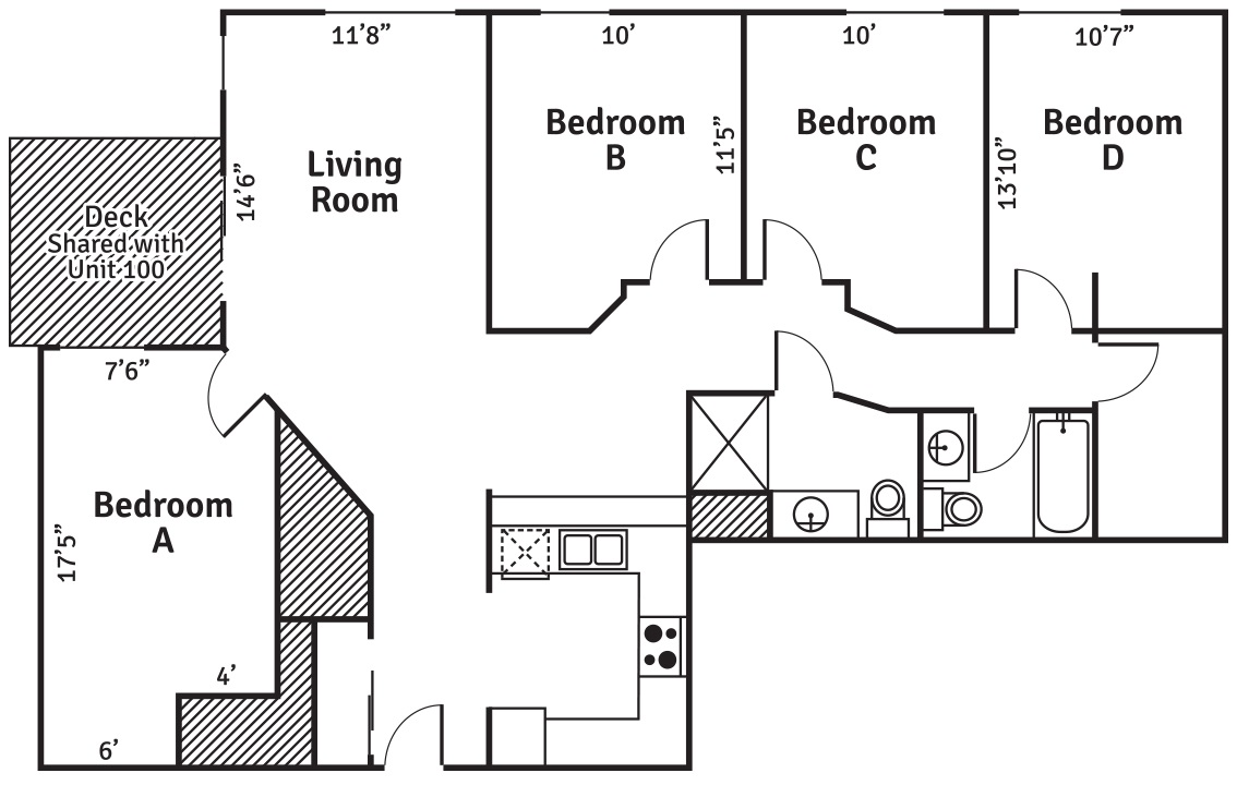 ph Apartments 4 bedroom XL layout