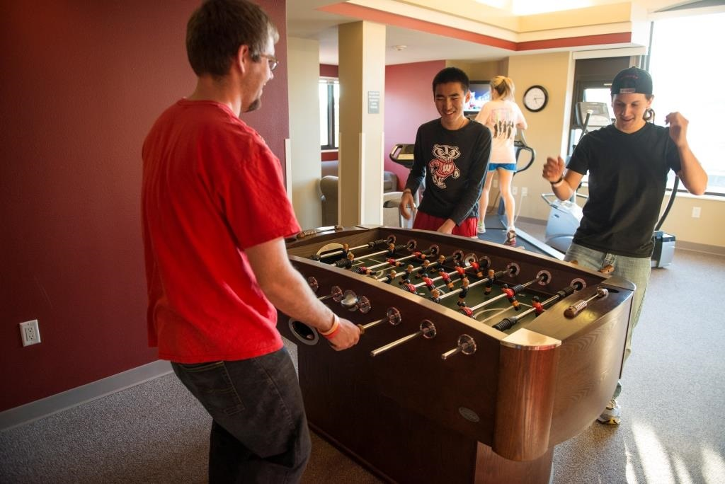 Boys Playing Foosball