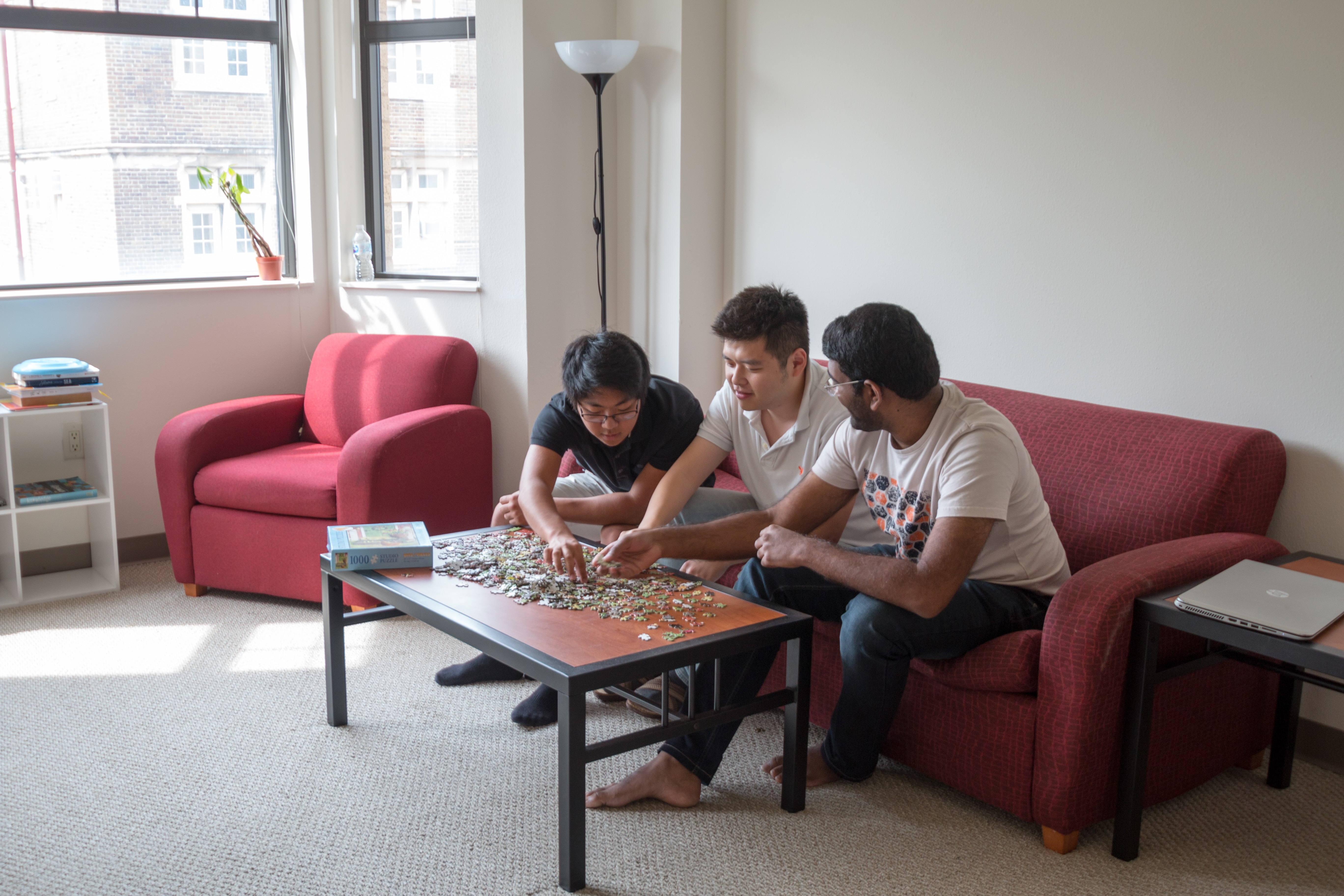 Boys Playing Board Game