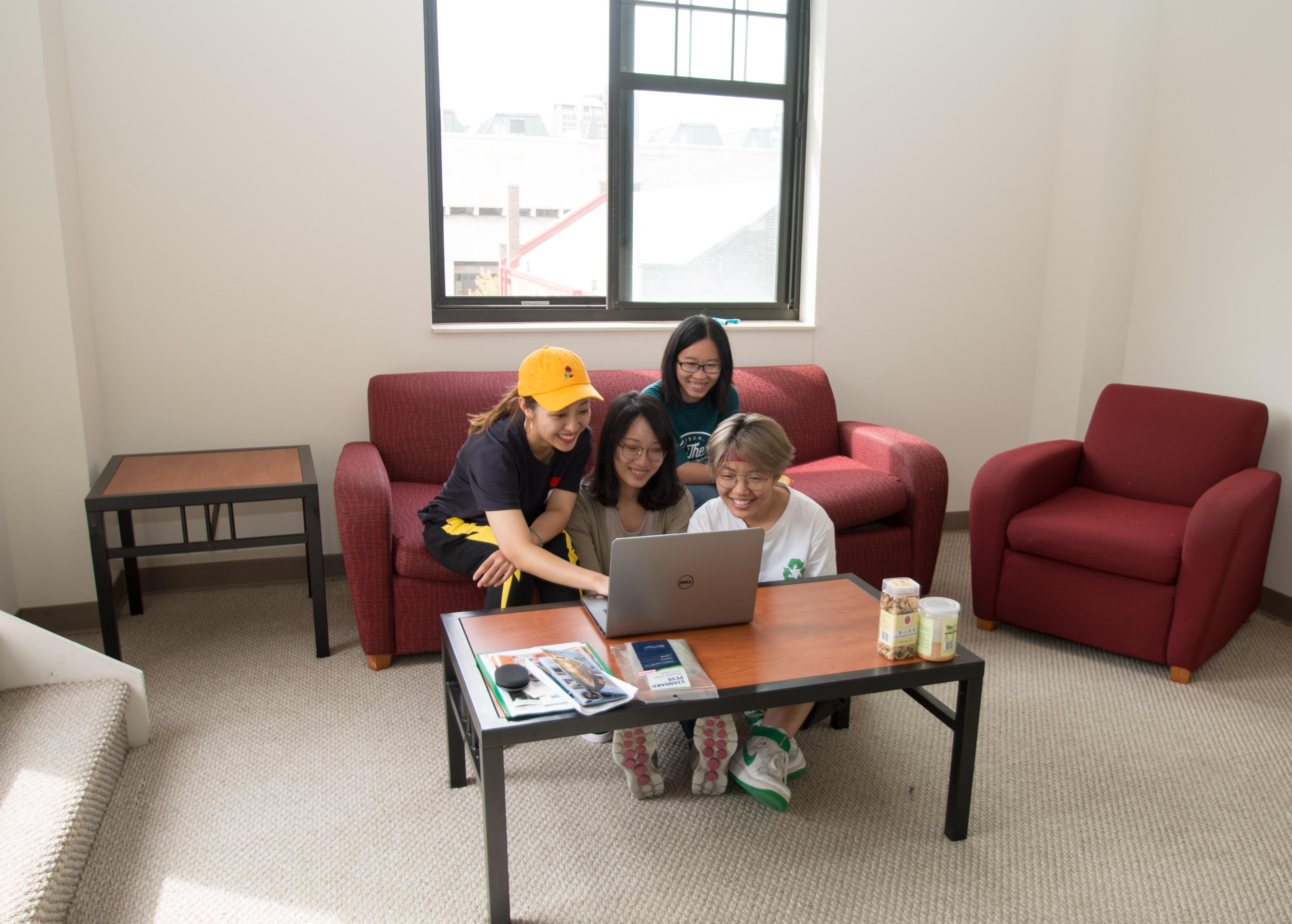 Girls Looking At Computer