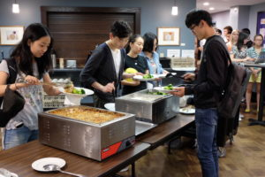 Community dinner at Pres House Apartments