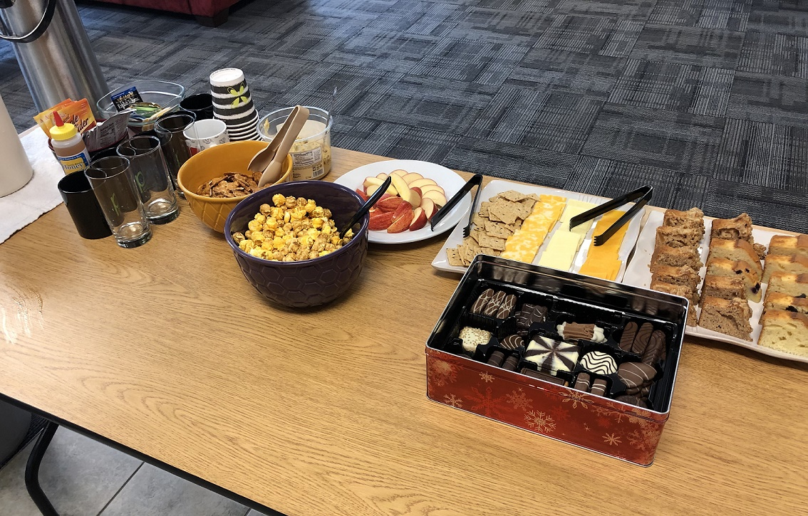 A Table Of Snacks For Afternoon Tea