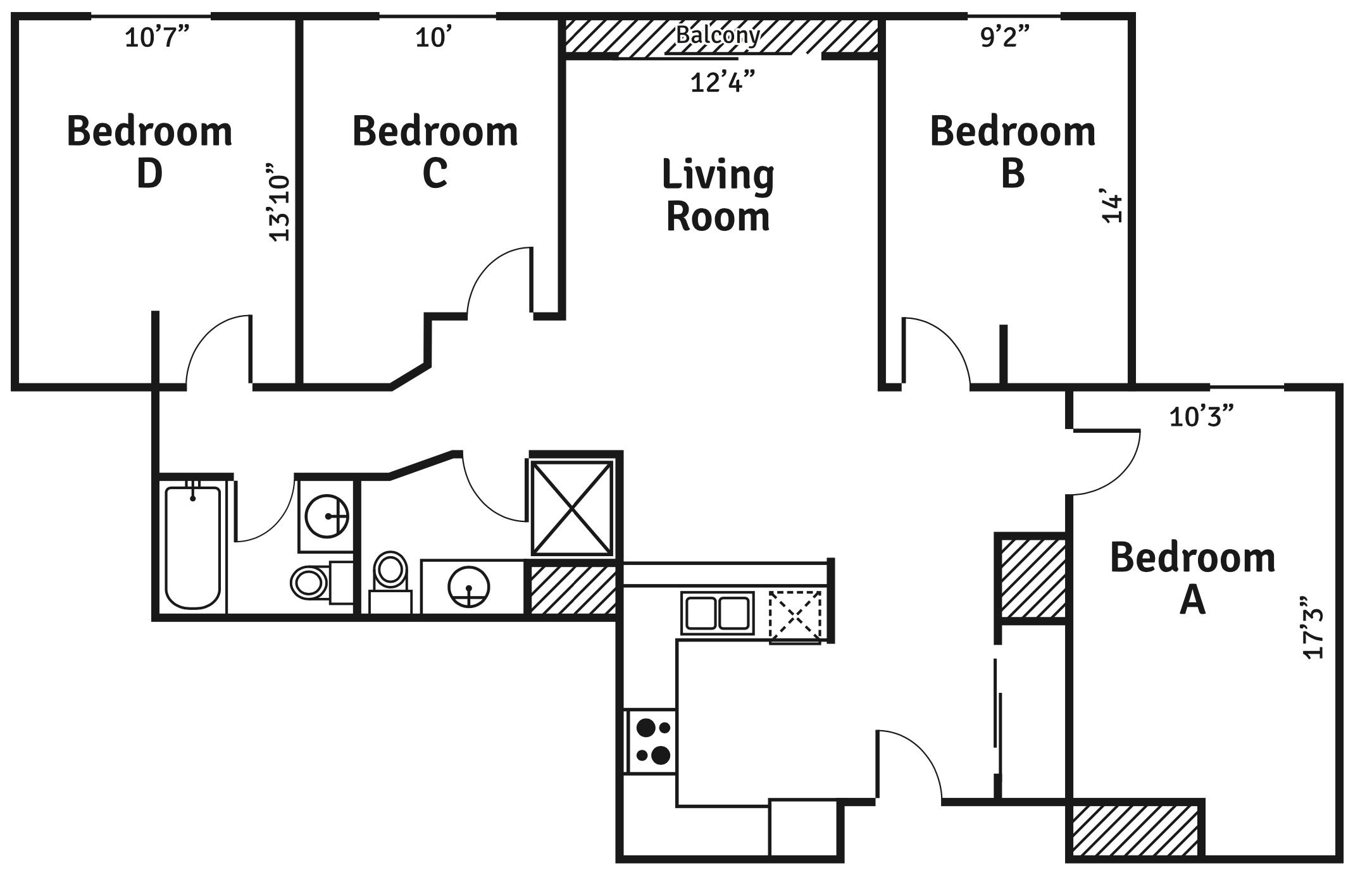 4 bedroom xl